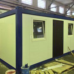 """Блок-контейнер """"Транспак"""" для инженеров завода в поселек Томилино."""